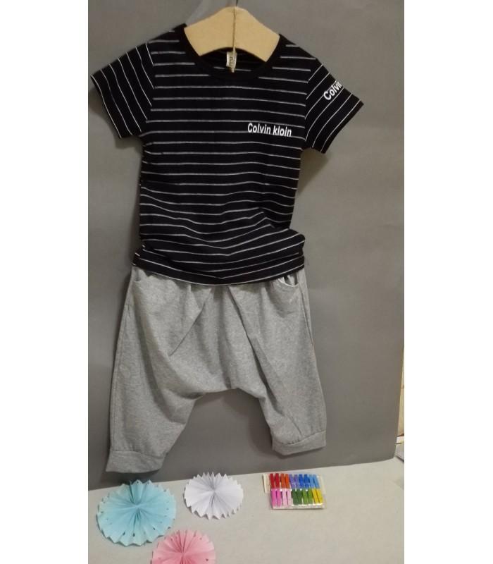❣❣❣ 男童黑色條纹棉T ❣❣❣